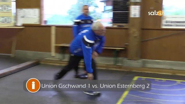 Stockschützen Meisterschaftsspiel  Union Gschwand 1 vs. Union Esternberg 2